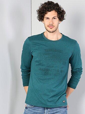 Yeşil Erkek Tshirt U.kol