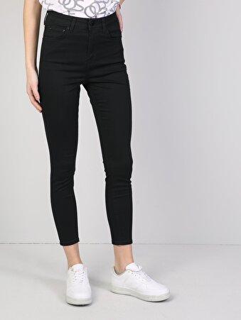 760 Diana Dar Kesim Yüksek Bel Dar Paça Siyah Jean Pantolon