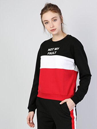 Siyah Kadın Sweatshirt