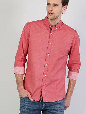 Kırmızı Erkek Gömlek U.kol