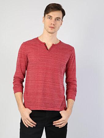 Kırmızı Erkek Tshirt U.kol