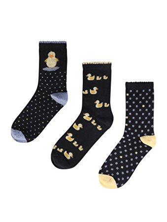 Lacivert Kadın Çorap