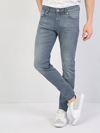 040 Alex Dar Kesim Mavi Jean Pantolon