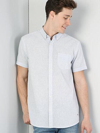 Açık Mavi Kısa Kol Gömlek