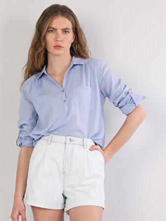 e3b73d0dfddae Kadın Uzun Kol Gömlek Model ve Fiyatları | Colin's Online Alışveriş