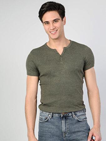 Yeşil Erkek Tshirt K.kol
