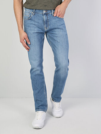 045 David Normal Kesim Orta Bel Düz Paça Mavi Jean Pantolon