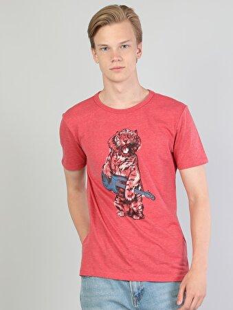 Kırmızı Erkek Tshirt K.kol