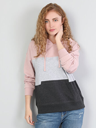 Pembe Kadın Sweatshirt