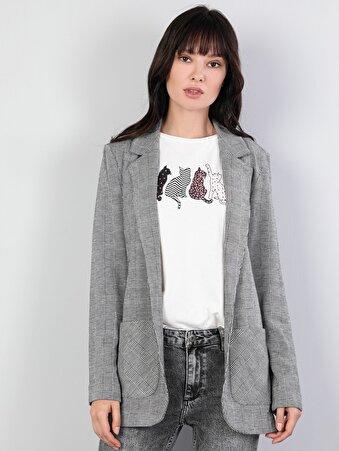 Gri Kadın Ceket