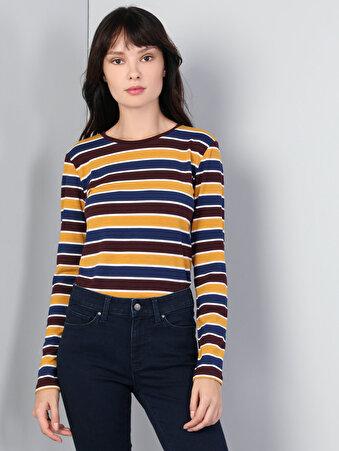 Çok Renkli Kadın Tshirt U.kol