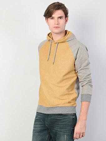 Sarı Erkek Sweatshirt