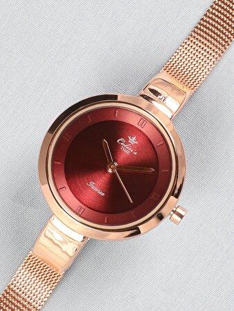 Pembe Kadın Saat