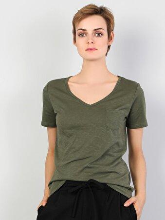 Yeşil Kadın Tshirt K.kol
