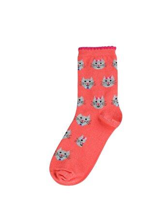 Desenli Somon Kadın Çorap