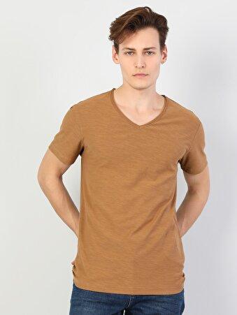 Kahverengi Erkek Tshirt K.kol