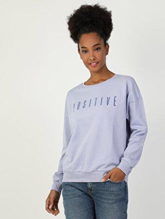 Mor Kadın Sweatshirt