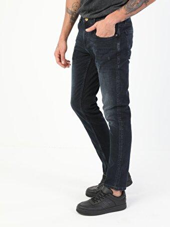 41 Danny Dar Kesim Düşük Bel Dar Paça Erkek Lacivert Jean Pantolon