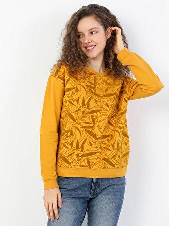 Sarı Kadın Sweatshirt