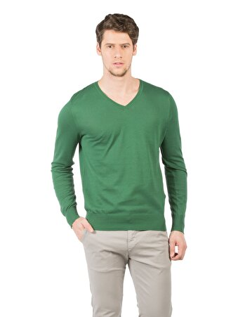 Yeşil Erkek Kazak