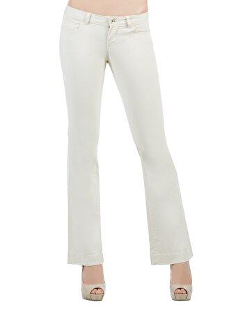 Beyaz Bayan Pantolon