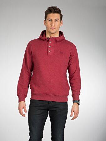 Kirmizi Erkek Sweatshirt
