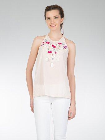 Pembe Kadın Gömlek K.kol