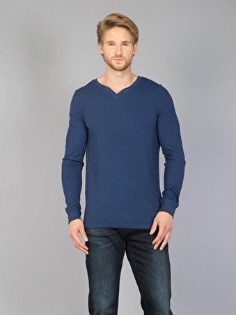 Mavi Erkek Tshirt U.kol