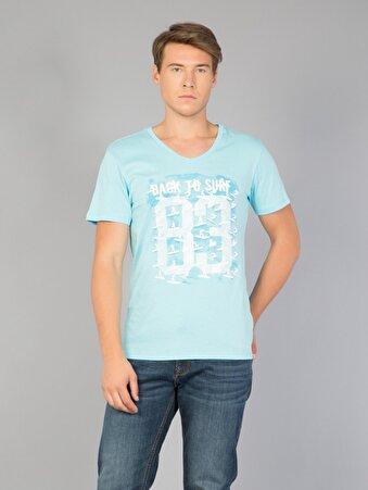 Mavi Erkek Tshirt K.kol