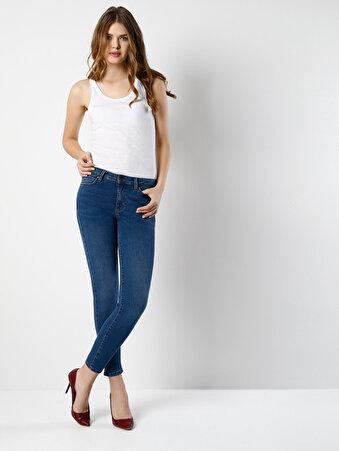 Mavi Bayan Pantolon