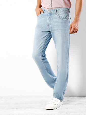 045 David Normal Kesim Orta Bel Geniş Paça Açık Mavi Jean Pantolon