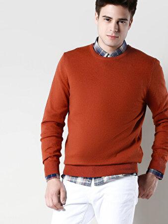 Oranj/turuncu Erkek Kazak