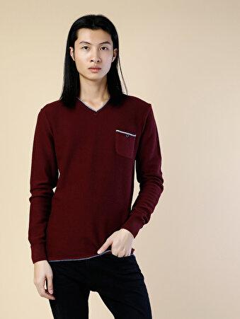 Kırmızı Erkek Kazak