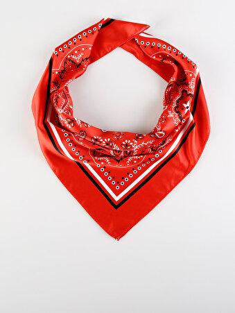 Kırmızı Kadın Şal