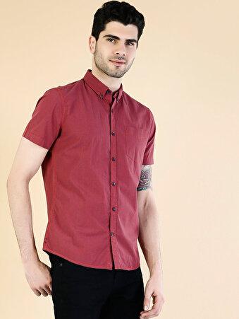 Kırmızı Erkek Gömlek K.kol