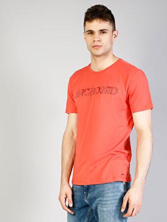 Mercan Yuvarlak Yaka Kısa Kol Tişört