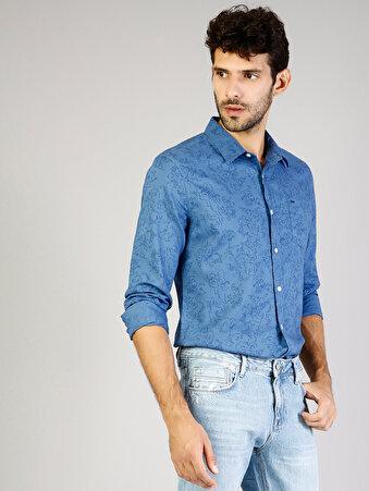 Mavi Erkek Gömlek U.kol