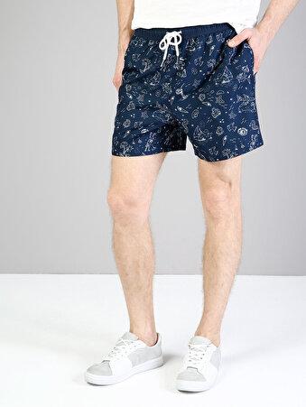 Lacivert Erkek Deniz Şortu