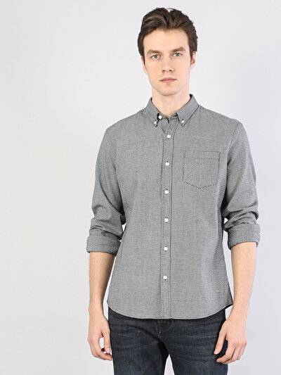 Klasik Yaka Siyah Uzun Kol Gömlek