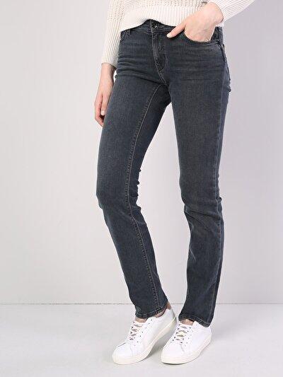 792 Mila Normal Kesim   Siyah Jean Pantolon