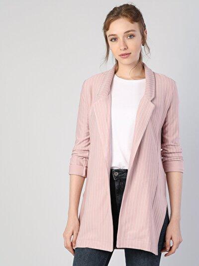 Pembe Örme Kadın Ceket