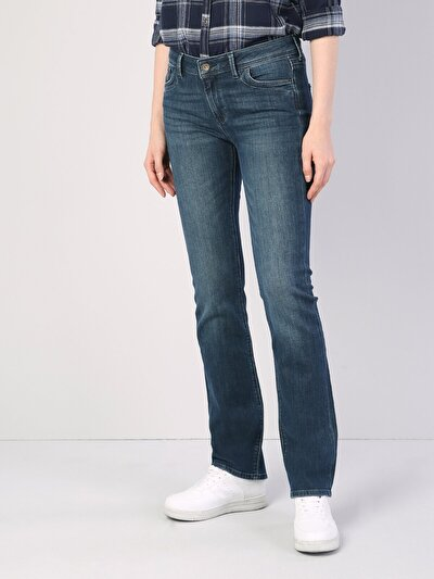 792 Mila Normal Kesim   Koyu Mavi Jean Pantolon