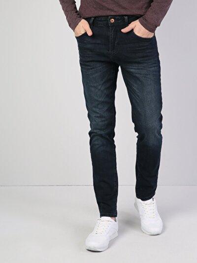 044 Karl Normal Kesim Düşük Bel Düz Paça Koyu Mavi Jean Pantolon