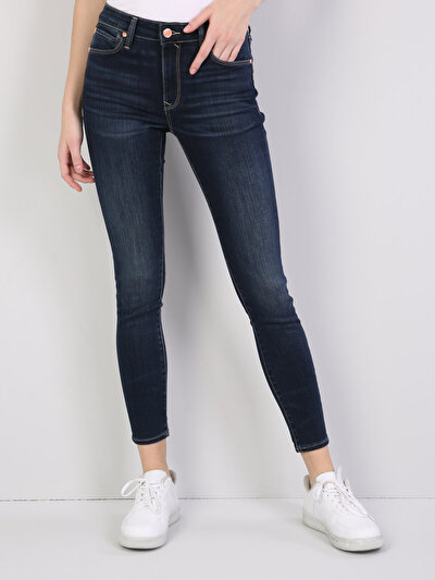 759 Lara Dar Kesim   Koyu Mavi Jean Pantolon