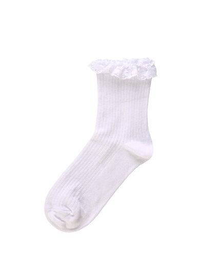 Beyaz Kadın Çorap