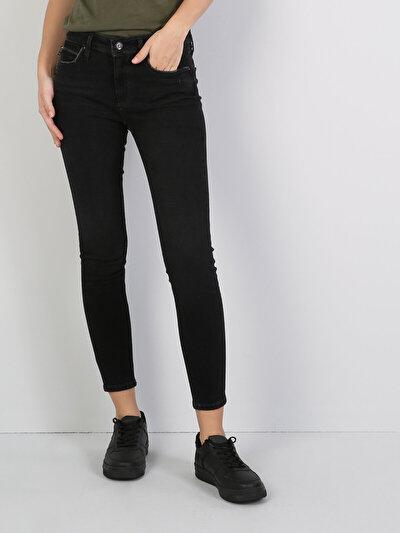 759 Lara Dar Kesim   Siyah Jean Pantolon