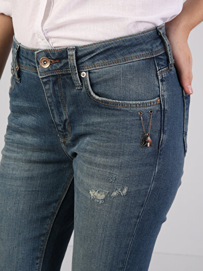 759 Lara Dar Kesim   Mavi Jean Pantolon
