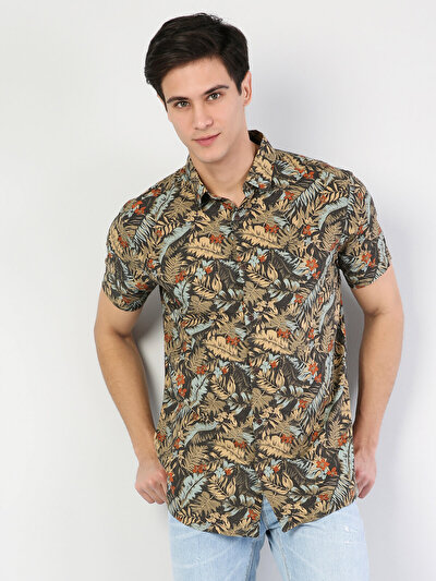 Haki Kısa Kol Gömlek
