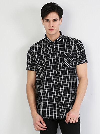 Siyah Kısa Kol Gömlek