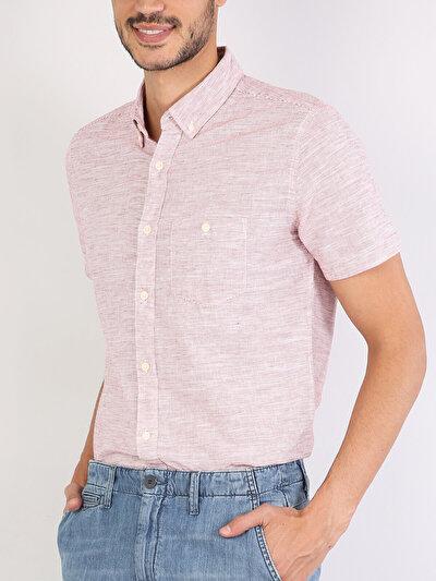 Pembe Kısa Kol Gömlek